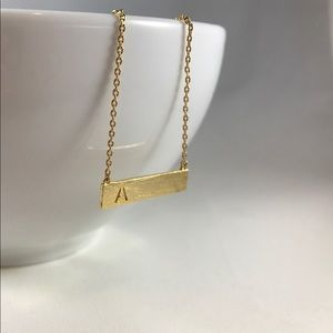 🛍 NEW TRENDY GOLD INITIAL NECKLACE